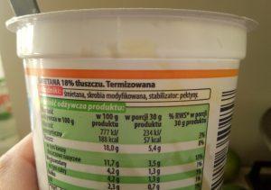 śmietana 18% kraina mleka