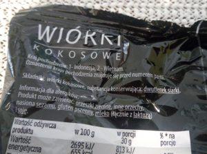 wiórki kokosowe skład